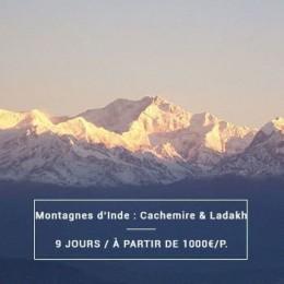 Voyage Inde Nord : Montagnes Cachemire & Ladakh