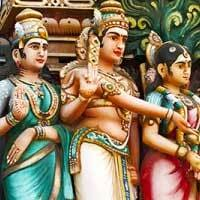 Voyage Inde Sud : Divinités Hindous Tamil Nadu