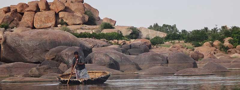 Voyage Inde Sud : Rivière Hampi Karnataka