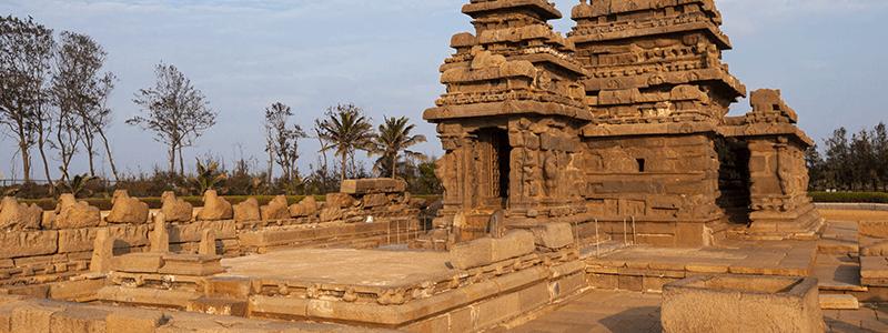 Voyage Inde du Sud : Temple du Rivage Mahabalipuram Tamil Nadu