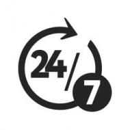 Logo 24h 7 jours usr 7